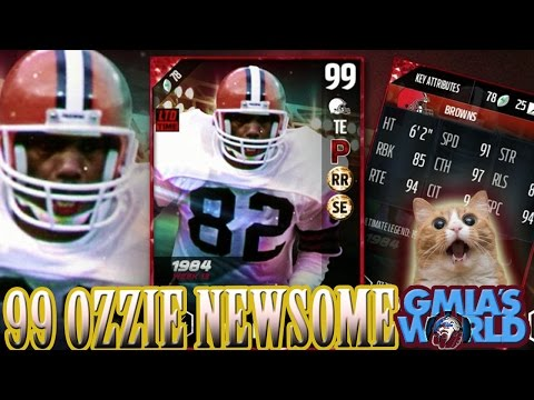ALL NEW MADDEN 17 ULTIMATE LEGENDS 99 OVR OZZIE NEWSOME & RANDLE! MUT 17 | MADDEN 17 ULTIMATE TEAM