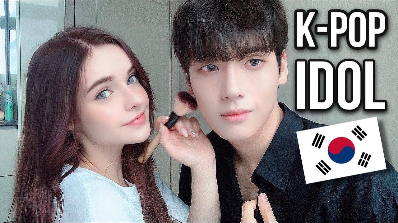 외국인 아내가 해준 아이돌 메이크업 / DID I MARRY A KOREAN IDOL?