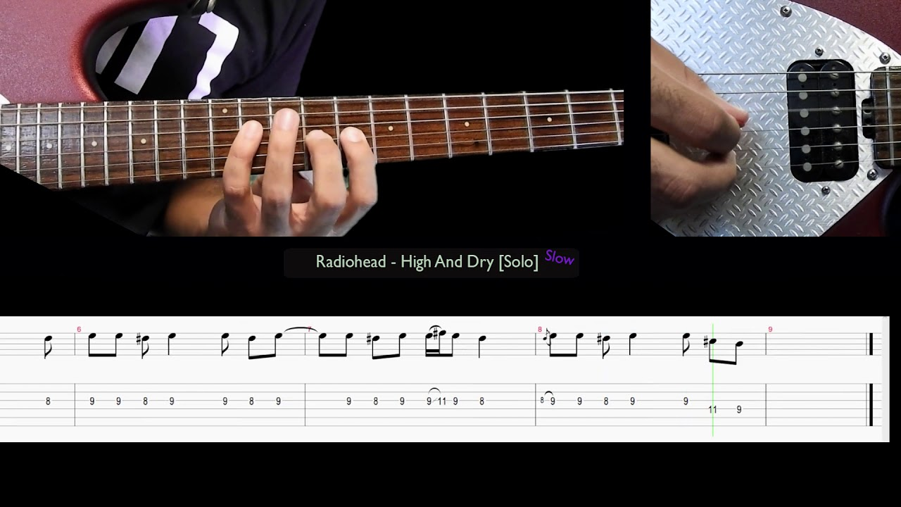 Radiohead high and dry solo slow youtube radiohead high and dry solo slow hexwebz Images