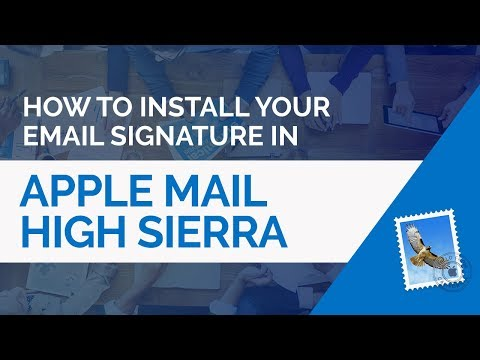 How To Install A HTML Email Signature In Apple Mail (macOS High Sierra)