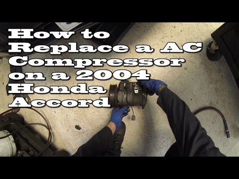 How to Replace an AC compressor 2004 Honda Accord