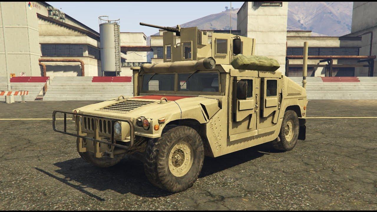 Gta V Armed Humvee Us Army Mod Youtube