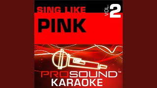 Glitter In The Air (Karaoke Instrumental Track) (In the Style of Pink)