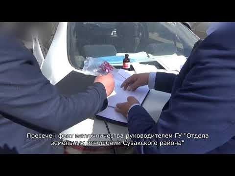 Пресечен факт взяточничества руководителем ГУ «Отдел земельных отношений Сузакского района»