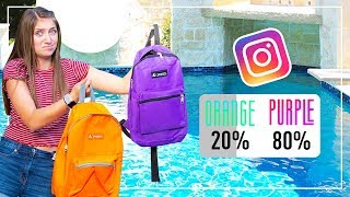 DON'T Drop the Wrong MYSTERY BACKPACK in the Pool! (YOU DECIDE)