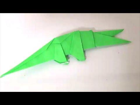 Alligator origami「わに」折り紙