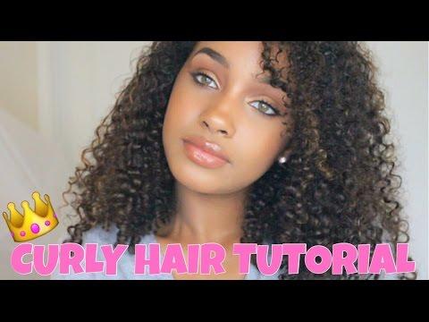 My Curly Hair Tutorial Corie Rayvon Youtube