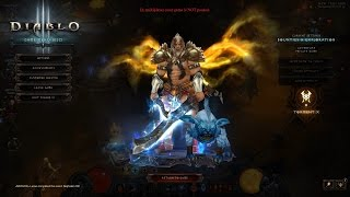 Diablo III Ros 2.3 Season 4 GR 70 Full XP Support Barbarian Para 800+ 4P