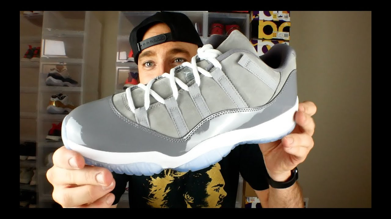 cheap for discount 4d95a 42df5 Jordan 11 Low Cool Grey Review & On Feet!