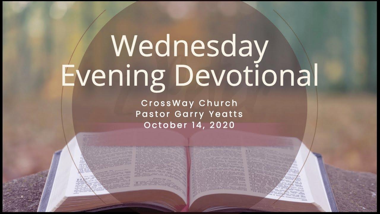 Wednesday Devotional Oct 14 2020