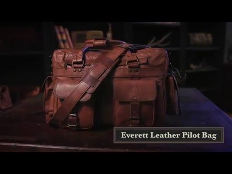 f4a0f47fdda3 Everett Pilot Briefcase Leather Bag - Two Pocket Leather - YouTube