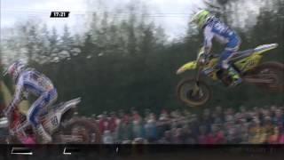 MXGP of Latvia Jeremy Seewer Crash #Motocross