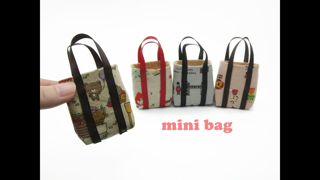 a63d5cb24f49 DIY Miniature Doll Mini Tote Bag - Very Easy ! - YouTube