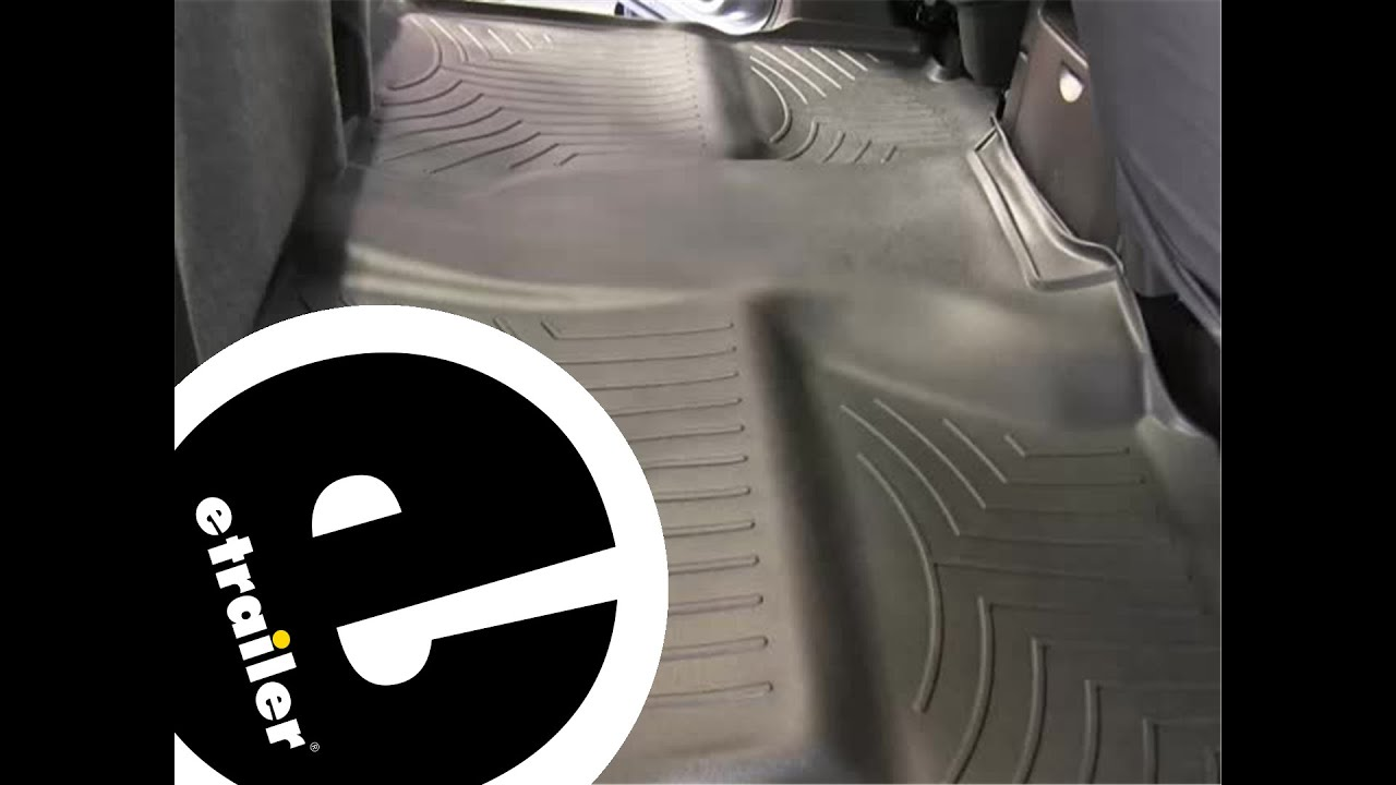 Weathertech door mats - Review Of A Weathertech Rear Floor Liner On A 2012 Chevrolet Silverado Etrailer Com Youtube
