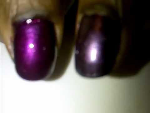 Nail Polish Color Change with Clear Coat - YouTube