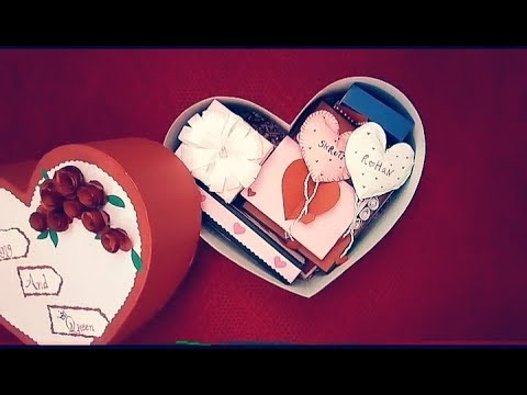 DIY Heart shaped gift box   box full of handmade gifts   Valentine's Day Gift Ideas  Creative Craft