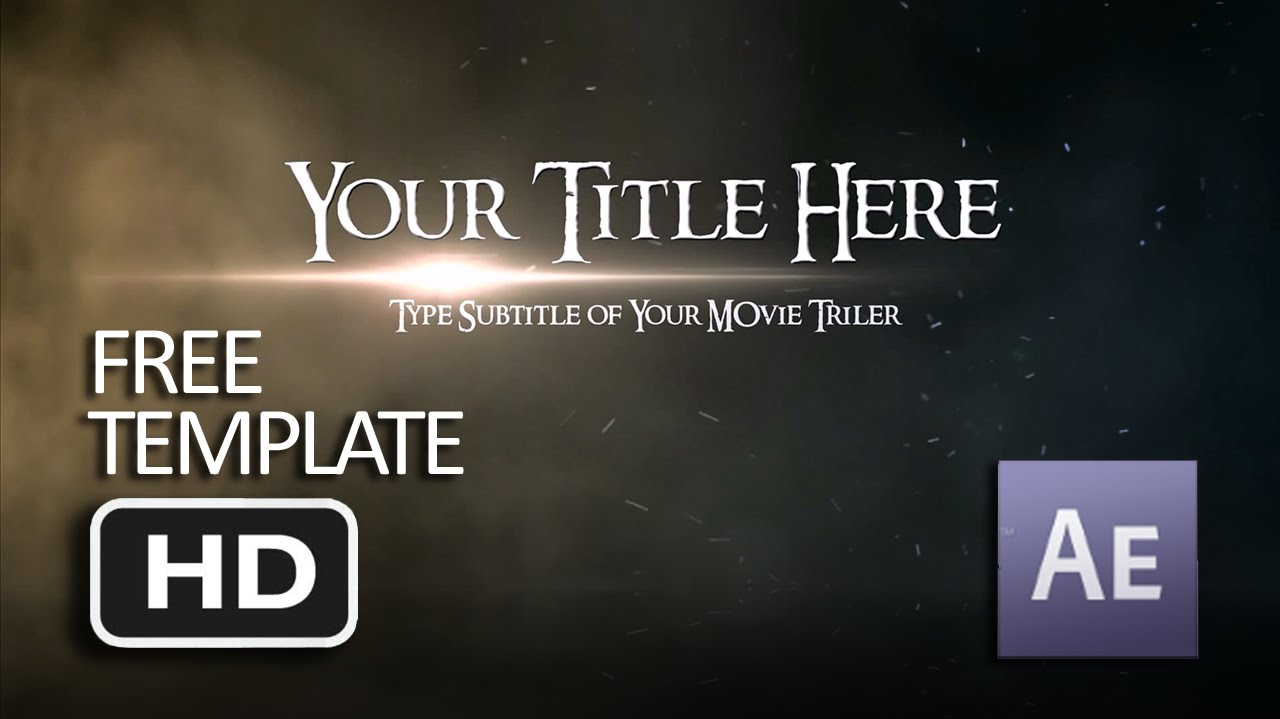 Free Template After Effects Opening Movie Link In Description - Coming soon after effects template