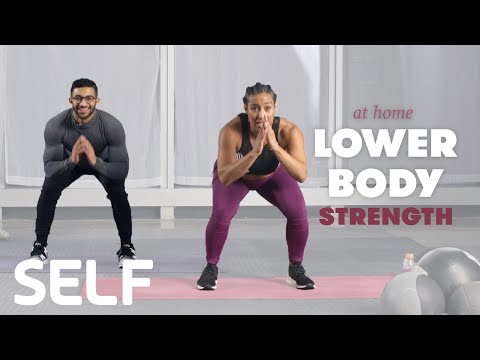 30-Minute Lower-Body Strength Workout with Warm Up - No Equi