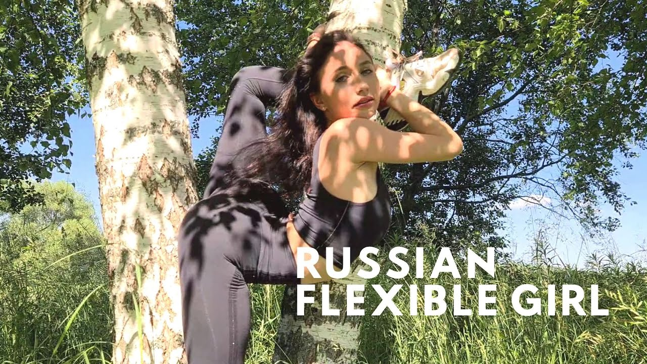 Stretching legs. Flexible shoot in the Russian forest
