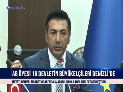 Pamukkale AB Büyükelçileri Denizli'de 23 10 2018