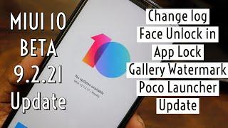 Miui 10 Beta 9.2.21 Update - Face Unlock in App Lock & Poco Launcher Update Video
