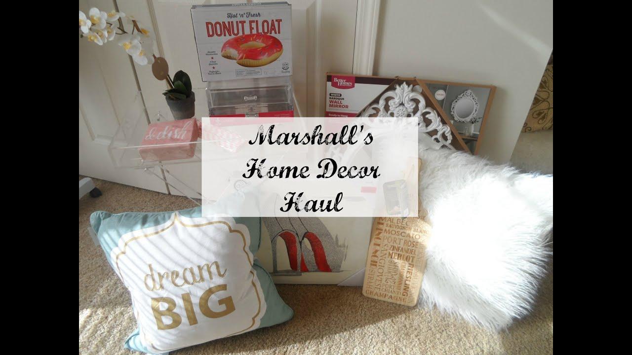 Home Decor Haul I Marshalls Youtube