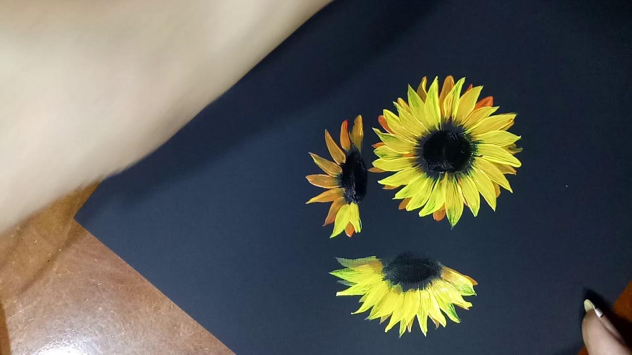 Hướng dẫn vẽ hoa hướng dương đơn giản.