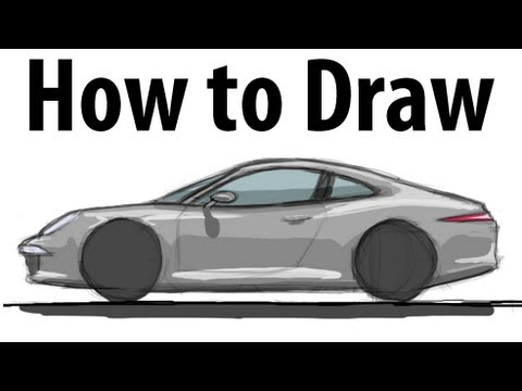 0f552933fcaf How to draw a Porsche 911 (991) - Sketch it quick! - YouTube