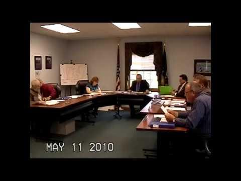 Champlain Town Board Meeting  5-11-10