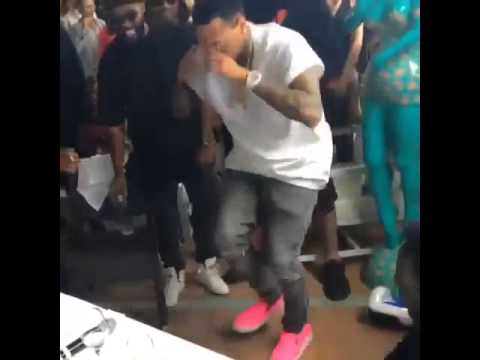 Chris Brown Dancing In Cannes Today! - May 21st