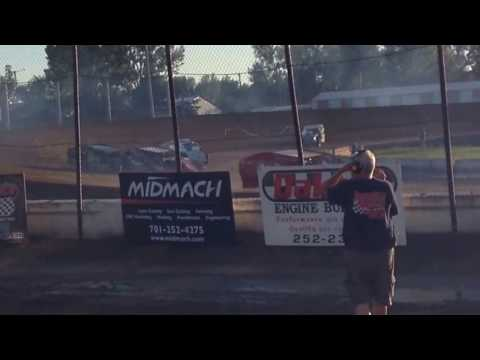 Jamestown speedway July 23, 2016 IMCA Mods heat race