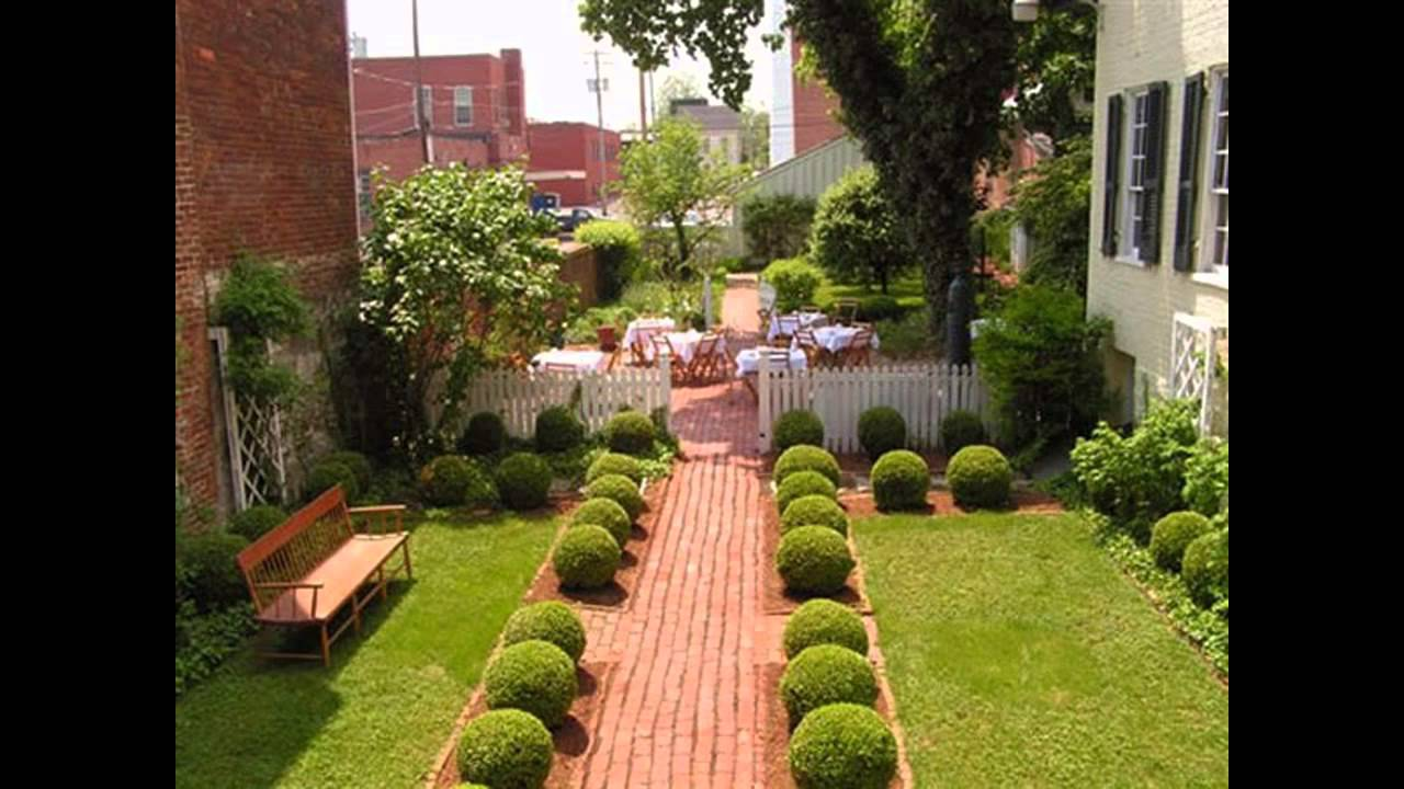 Home landscape gardening ideas for small gardens youtube for Small garden design ideas with lawn