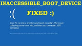 Solved] How to fix stop 0x0000007b Blue Screen error when
