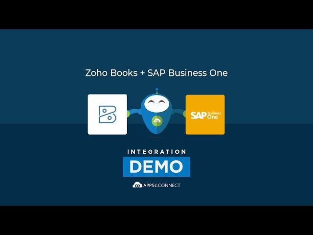 Integrate SAP Business One and Zoho Books | APPSeCONNECT
