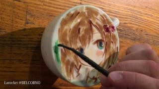 """I'm """"BELCORNO"""" drawing LatteArt ( Art on the coffee) in Japan. If you want to see more Latteart, please check my Web site. ↓ ラテアートページ 【ラテアート.com】 ..."""