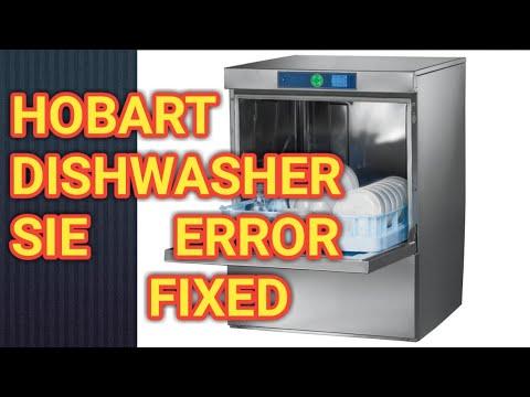Diy. How to fix Hobart dishwasher  SIE ERROR red button easy