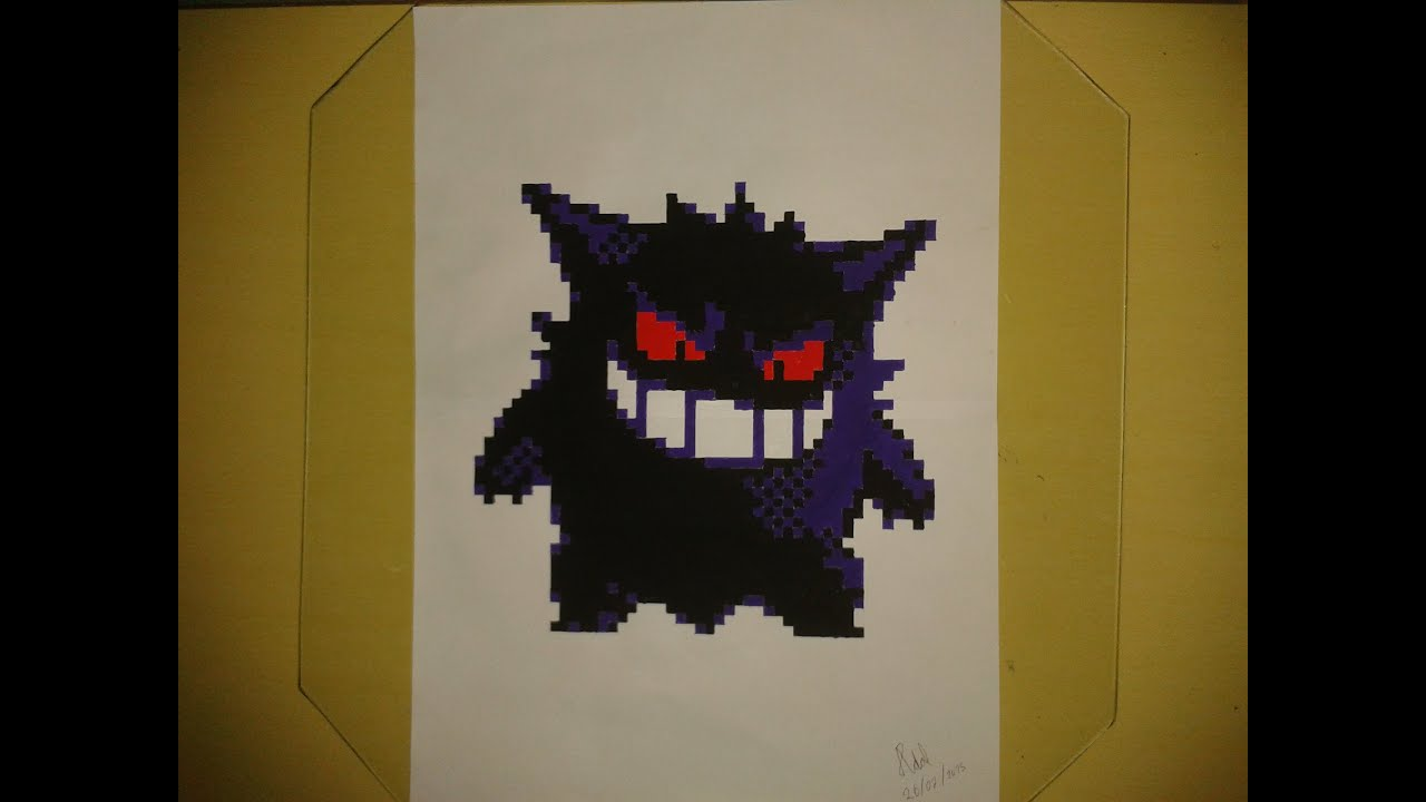 Gengar (Pokémon) em Pixel - Speed Drawing - YouTube