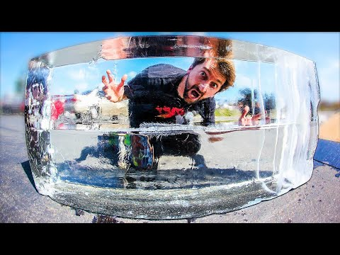 THE WORLD'S FIRST 100% ICE LEDGE | SKATE EVERYTHING EP. 293
