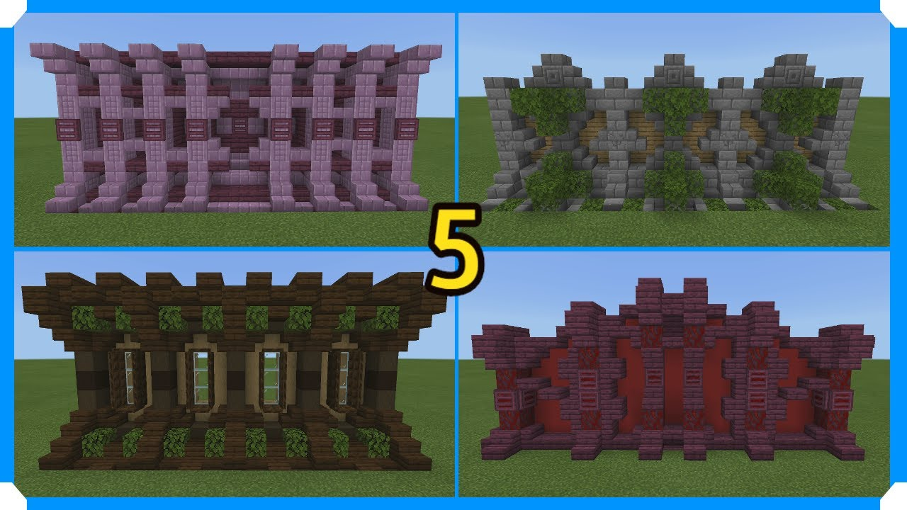 13 Minecraft Wall Designs In 130 Seconds #13 Minecraft Map