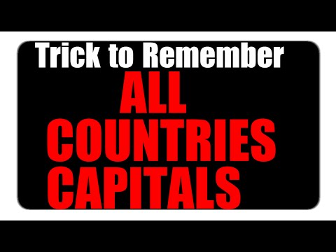 GK Tricks |  to Remember ALL  Countries Capitals in 1 video