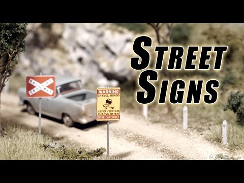 Make your own Street Signs – Model Railroad