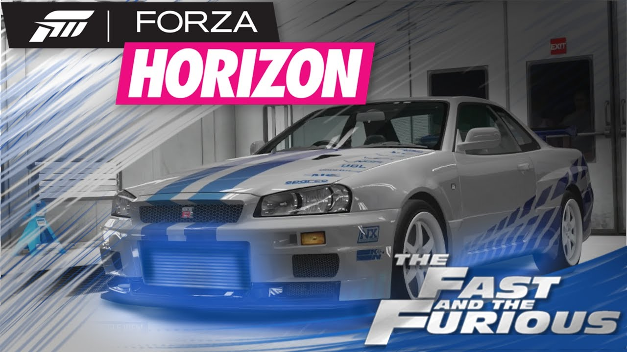 Forza horizon ep16 rip paul walker the fast and the furious brians skyline tutorial