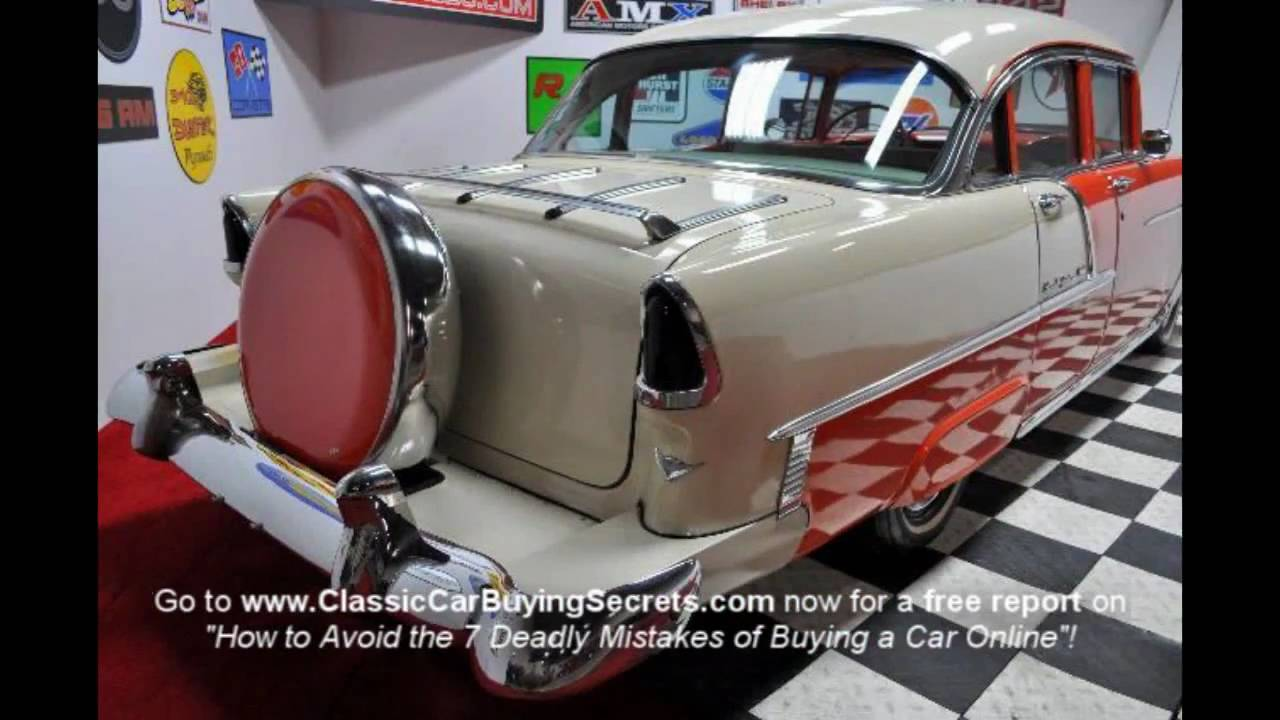 1956 chevrolet bel air for sale classic car liquidators - 1955 Chevy Bel Air 4 Door Classic Muscle Car For Sale In Mi Vanguard Motor Sales Youtube