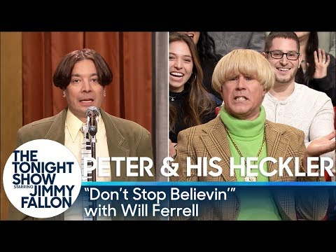 Peter and His Heckler - 'Don't Stop Believin'' (with Will Ferrell)