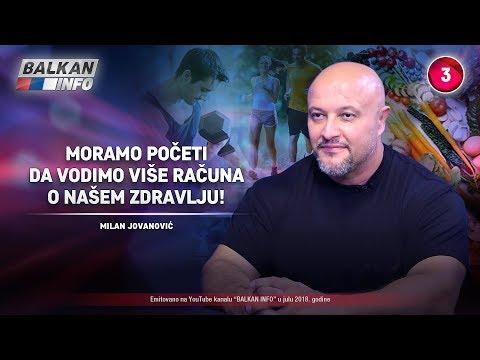 INTERVJU: Milan Jovanović - Moramo da počnemo da vodimo više računa o našem zdravlju! (08.07.2018)