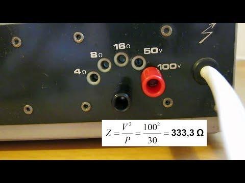 Amplificador de megafonía - Cálculo de la impedancia mínima de carga y número máximo de altavoces