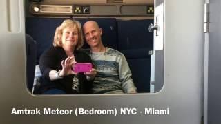Amtrak Meteor Train Bedroom Sleeper Car Tour