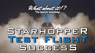 SpaceX Starhopper First 20 Meter Flight Test Summary