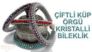Double CubicRaw crystal bracelet
