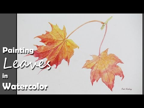 How to Paint Autumn Leaves in Watercolor